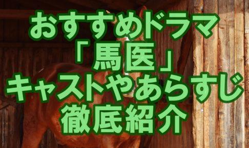 おすすめドラマ「馬医」のキャストやあらすじを徹底紹介