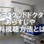 ドラマ「グッドドクター」第1話見逃した!!あらすじと放映中で無料視聴する方法