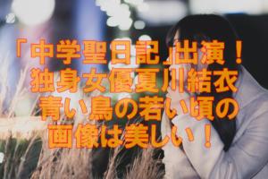 【人気女優】永遠の独身女優夏川結衣「青い鳥」の若い頃の画像は本当美しい!