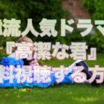 【特集】韓流おすすめドラマ『高潔な君』あらすじと無料視聴の方法