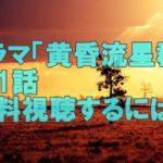 佐々木蔵之介ドラマ「黄昏流星群」第1話再放送見逃した!あらすじと無料視聴する方法