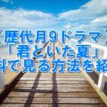 【歴代月9ドラマ】「君といた夏」再放送見逃し配信中! 無料視聴する方法とは?
