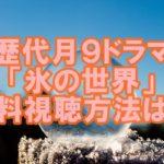 【歴代月9ドラマ】「氷の世界」見逃し配信中!無料視聴の方法は?