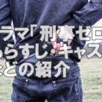 ドラマ「刑事ゼロ」あらすじやキャストの紹介