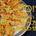 餃子×〇〇!?皆が知らない美味しい食べ方【意外な組み合わせも】