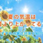 夏の気温は昭和・大正の頃より上がってる?おすすめ暑さ対策