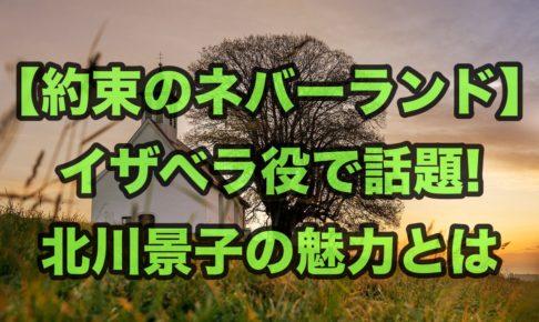 【約束のネバーランド】イザベラ役で話題!北川景子の魅力とは
